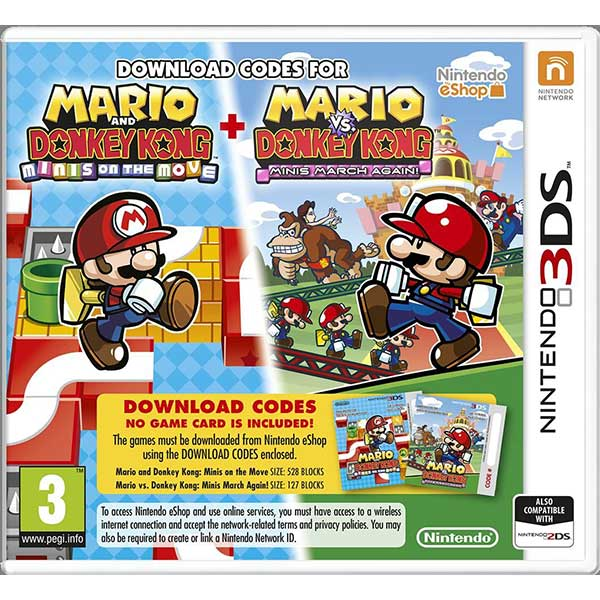 Mario And Donkey Kong: Minis On The Move + Mario Vs. Donkey Kong: Minis March Again! - Nintendo 3DS Game