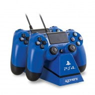 4Gamers Dual Charge & Stand Blue - PS4 Controller