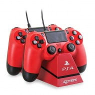 4Gamers Dual Charge & Stand Red - PS4 Controller