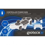 Gioteck Controller Power Skin & Battery White - PS4 Controller