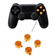 Aluminium Bullet Button Gold - PS4 Controller