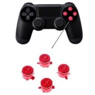 Aluminium Bullet Button Red - PS4 Controller