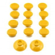 Analog Controller FPS ThumbSticks Grips Caps Cover 12X Yellow