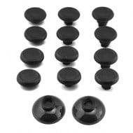 Analog Controller Thumb Stick Grip Cap Cover 12X Black