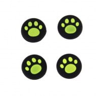 Analog Thumb Grips Silicone Caps Cover 4X Cats Paw Green