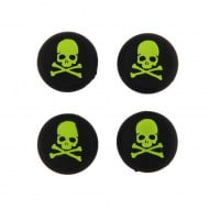 Analog Thumb Grips Silicone Caps Cover 4X Skull Green