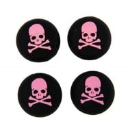 Analog Thumb Grips Silicone Caps Cover 4X Skull Pink