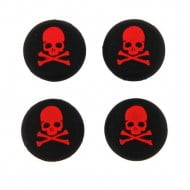 Analog Thumb Grips Silicone Caps Cover 4X Skull Red