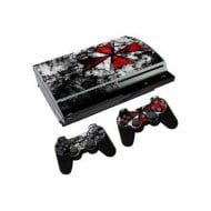 Sticker Skin Biohazard Αυτοκόλλητο + 2 Controller Skin - PS3 Fat Console