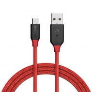 Cable AmpCore BlitzWolf BW-MC4 USB 2.0 Micro USB Male To USB-A Male Red 1m
