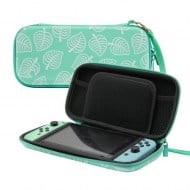 Carry Case Protection Green Flower - Nintendo Switch Console