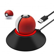 Charging Stand Black Poke Ball - Nintendo Switch