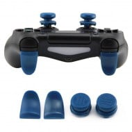 Extended Trigger R2 L2 Blue & FPS Grips Caps Blue COD 3 - PS4 Controller