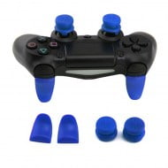 Extended Trigger R2 L2 Blue & FPS Grips Caps Blue Vortex - PS4 Controller
