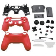 Full Housing Shell Red & Buttons - PS4 Controller