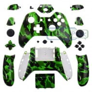 Full Set Housing Shell Case Buttons Green Camouflage - Xbox One Controller
