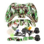 Full Set Housing Shell Case Camouflage Green - Xbox 360 Controller