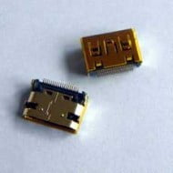 HDMI Mini Socket SMD SMT 19 Pin Female 4 Legs Θηλυκό Βύσμα