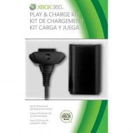 Microsoft Play & Charge Kit Black Battery - Xbox 360 Controller