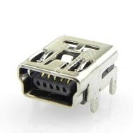 Mini USB Socket DIP Through Hole 5 Pin Female Mini B