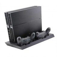Multi Charging & Cooling Stand With Led Black - PS4 Fat Cosnole