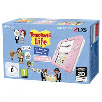 Nintendo 2DS Pink White & Tomodachi Life Pre Installed