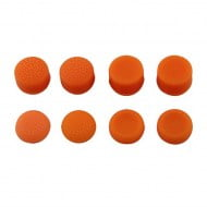 Analog Controller Thumb Stick Silicone Grip Cap Cover 8X Orange Ornate