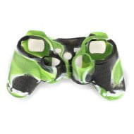 Silicone Case Skin Green / Black / White - PS3 Controller