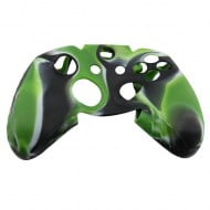 Silicone Case Skin Black / Green / White - Xbox One Controller