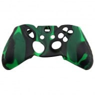 Silicone Case Skin Black / Green - Xbox One Controller