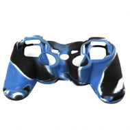 Silicone Case Skin Blue / Black / White - PS3 Controller