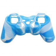 Silicone Case Skin Blue / White - PS3 Controller