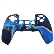 Silicone Case Skin Camouflage Blue - PS5 Controller