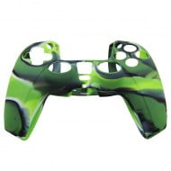 Silicone Case Skin Camouflage Green - PS5 Controller