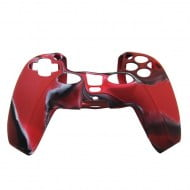 Silicone Case Skin Camouflage Red - PS5 Controller