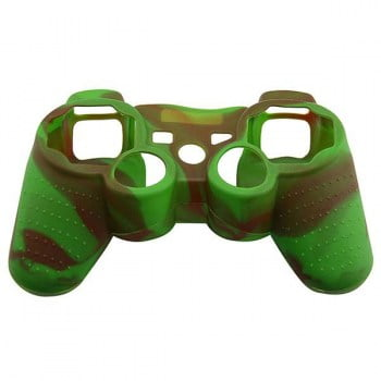 Silicone Case Skin Green / Brown - PS3 Controller