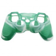 Silicone Case Skin Green / White - PS3 Controller