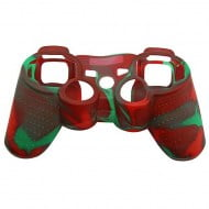 Silicone Case Skin Red / Green - PS3 Controller