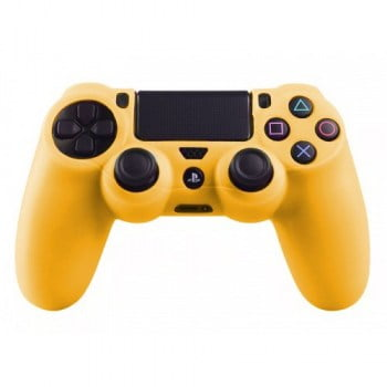 Silicone Case Skin Yellow - PS4 Controller