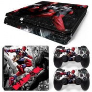 Sticker Skin Deadpool #2 - PS4 Slim Console