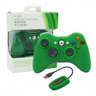 Wireless Gamepad Green With Adapter - PC / Xbox 360 Controller