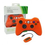 Wireless Gamepad Orange With Adapter - PC / Xbox 360 Controller