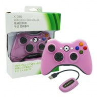 Wireless Gamepad Pink With Adapter - PC / Xbox 360 Controller