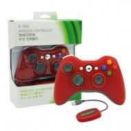 Wireless Gamepad Red With Adapter - PC / Xbox 360 Controller