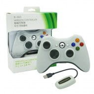 Wireless Gamepad White With Adapter - PC / Xbox 360 Controller