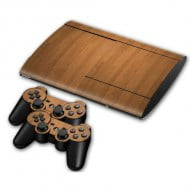 Sticker Skin Wood Αυτοκόλλητο + 2 Controller Skin - PS3 Super Slim Console